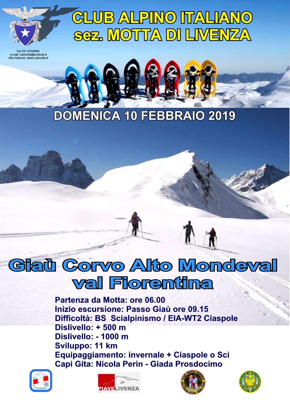 escursione ciaspe e sci Mondeval
